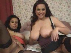 Curvy women with big natural tits lesbian sex movies at freekiloporn.com