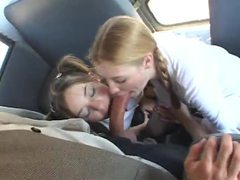 Pigtailed schoolgirls suck dick on the bus movies at kilopics.net