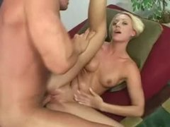 Lean chick with big ass fucked in the shaved pussy tubes