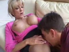 Man eats out a big tits blonde milf movies at freekilomovies.com
