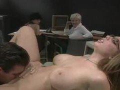 Horny girl in the office sucks cock in front of coworkers movies at kilopills.com