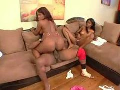 Two sexy black chicks get frisky with his bbc videos