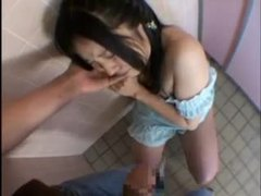 Foreplay with japanese girl in public bathroom videos