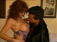 Oral foreplay with curly hair redhead in lingerie movies