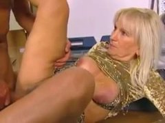 Blonde mature in short skirt hammered videos