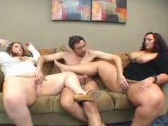 Threesome has his two favorite bbw sluts movies at find-best-lingerie.com