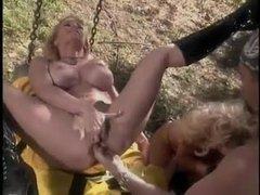 Busty blondes pounded outdoors by fireman movies at sgirls.net