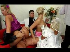 Orgy after the wedding with the whole party movies