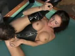 Looking hot in leather and latex and sucking cock videos