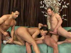 Three men and a black girl fuck movies at lingerie-mania.com