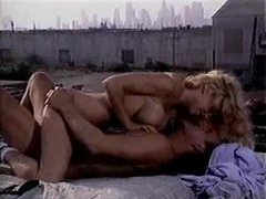 Rooftop sex in a retro fuck video movies