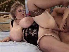 Fat old babe in glasses fucked videos