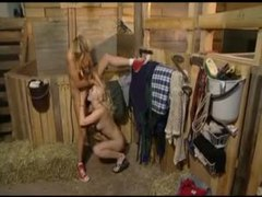 Chicks in the barn eating wet pussy videos