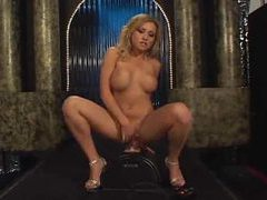 Hot stripper dancing and sitting on a toy movies at find-best-mature.com