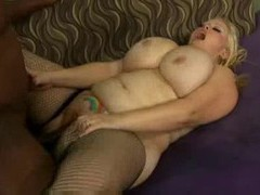 Hot fishnets fatty with belly tattoo screwed videos