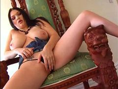 Curvy girl fondles and displays her hot titties videos