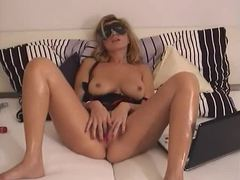 A hot masked milf masturbates her sexy pussy movies at find-best-mature.com