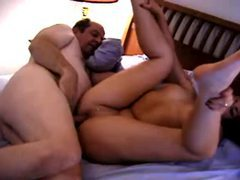 Old chubby guy fucks chubby young lady videos