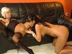European women in foxy lingerie love lesbian sex movies at find-best-panties.com
