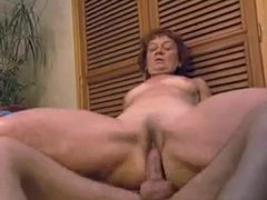 Hot mature in her bathroom takes young cock clip