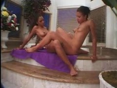 Strapon action with the black hotties is fun movies at sgirls.net
