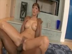 Slick chick takes a fucking from a black dude movies at kilomatures.com