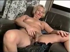 Curvy mature strips to nothing to show hairy pussy movies