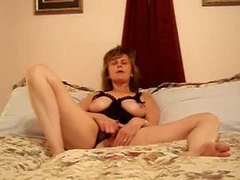 Mature in black lingerie with tits out masturbates movies at kilosex.com