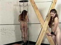 Bound girl in a collar is abused hard videos