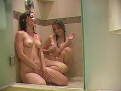 Wet young chicks in shower toy videos