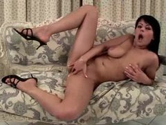 Curvy girl masturbates on the comfy couch movies at kilomatures.com