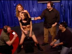 Schoolgirl babe rides sybian on howard stern show videos