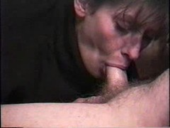 Wife in turtleneck gives a deepthroat blowjob videos