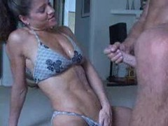 Fit babe in bikini sucks him and gets cumshot movies at find-best-ass.com