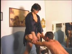 Chubby wife strokes him and fucks him with strapon movies at kilopics.net