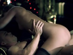 Romantic christmas sex with a girl in stockings videos