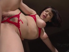 Red crotchless panties are sexy on an asian babe tubes at find-best-asian.com