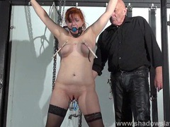 Swedish submissive vicky valkyrie tied clip