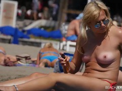 Spy films sexy milf tits on a beach day movies at find-best-babes.com