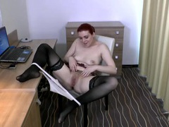 Sexy boots and stockings on a hairy girl videos