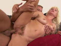 Hairy babe erotically milks his dick with her cunt videos