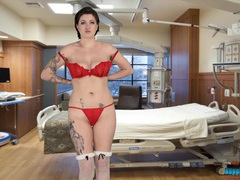 Hot nurse has a naughty time getting naked movies at kilopics.com
