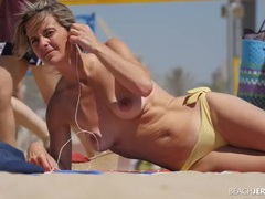 Tight ass and nice tits on a beach milf movies at sgirls.net