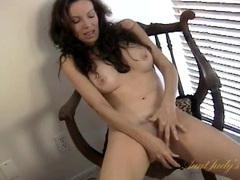 Pretty big boobs milf makes love to a dildo videos
