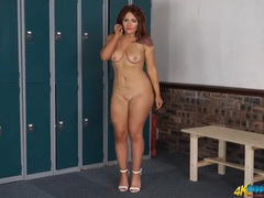 Curvy tennis babe does a delightful striptease movies at kilovideos.com