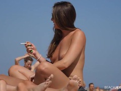 Cigarette smoking beach chick with her tits out movies at find-best-ass.com