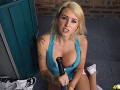 Huge tits cleavage on a sporty blonde babe movies at find-best-ass.com
