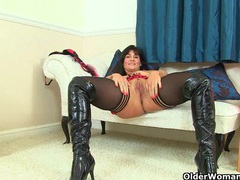 British milfs lelani and red masturbate in knee high boots movies at find-best-babes.com