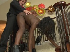 Standing doggystyle with a sexy black cock slut videos