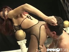 Tgirl lubes his butt and fucks it hard videos